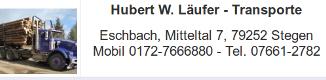 Hubert Läufer Transporte